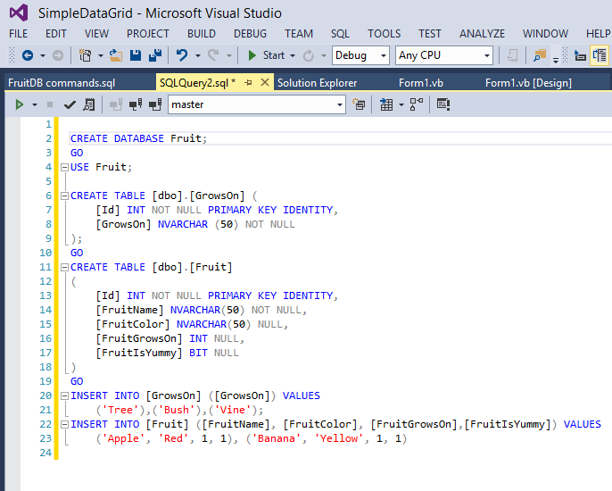 A Basic Example of CRUD with DataGridView in VB Net