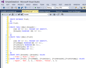 New query window in VS2013